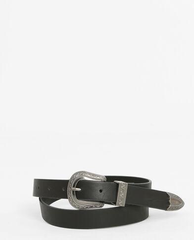 Cinturón western negro