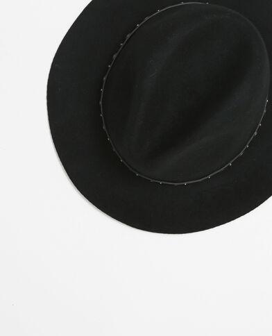 Fedora-Hut mit Ösen Schwarz
