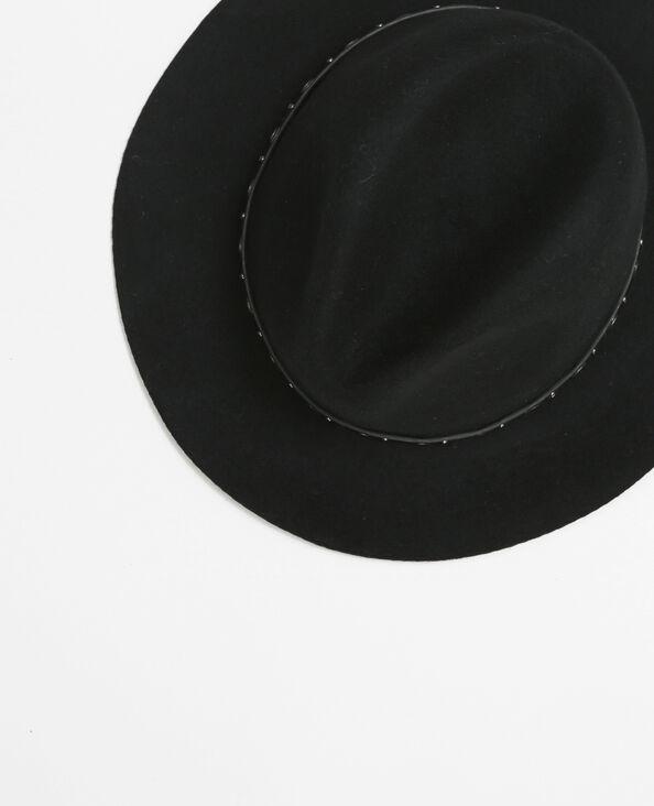 Chapeau fedora avec œillets noir