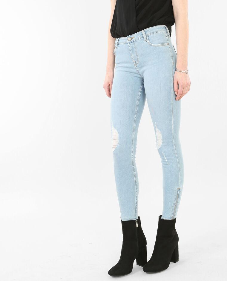skinny jeans im destroyed look blau 140187684a06 pimkie. Black Bedroom Furniture Sets. Home Design Ideas