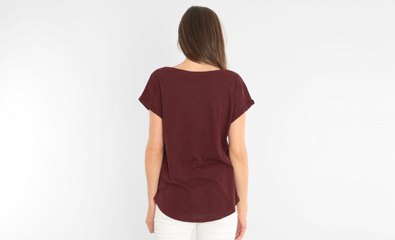 T-shirt poche fantaisie grenat