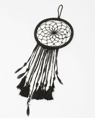 Attrape-rêves à pompons noir
