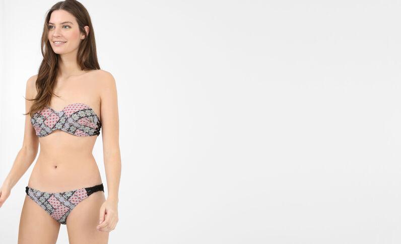 Bedrucktes Bikinihöschen. Rostfarben