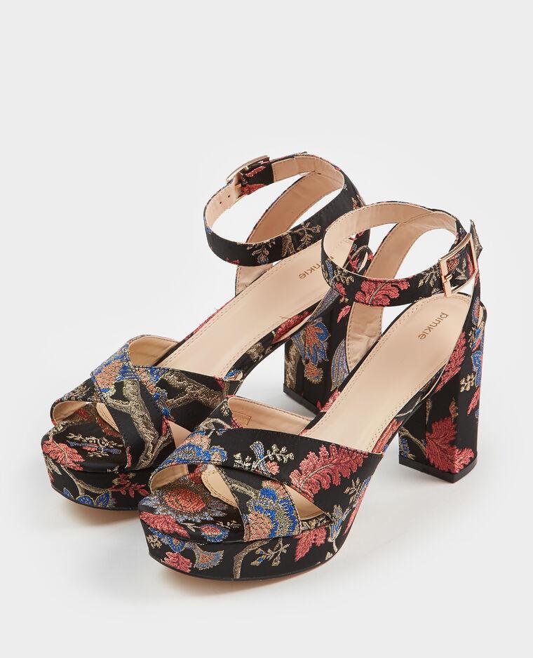 Sandales esprit brocard noir