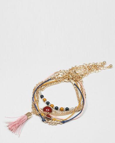 Lot de bracelets fins rose