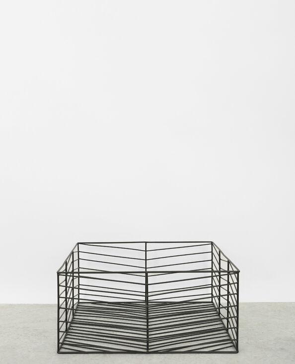 Großer Gitterkorb Schwarz