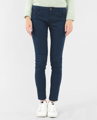 Pantalon slim bleu marine