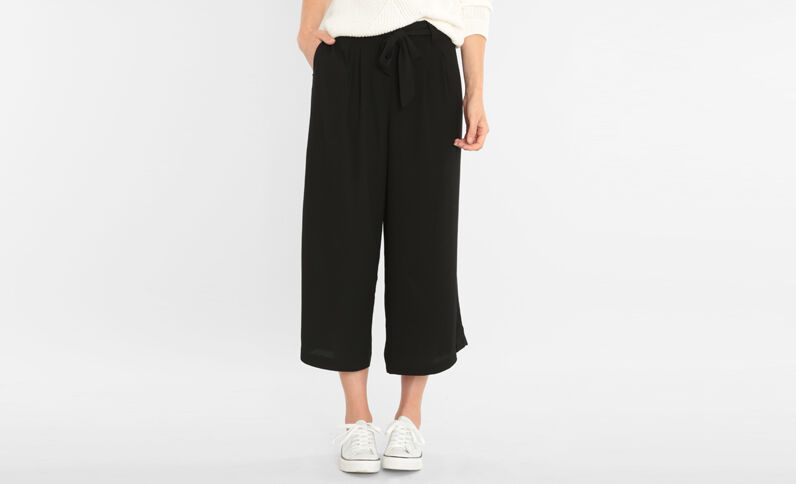Gonna pantalone con cintura nero