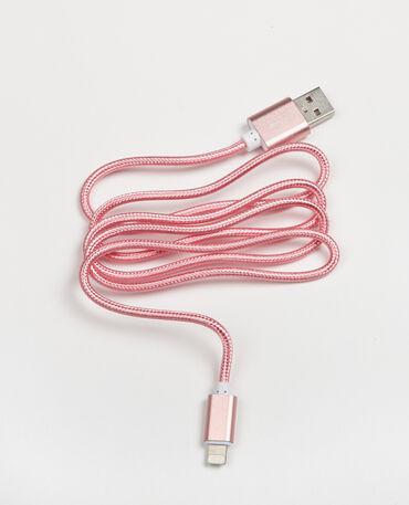 Câble compatible iPhone vieux rose
