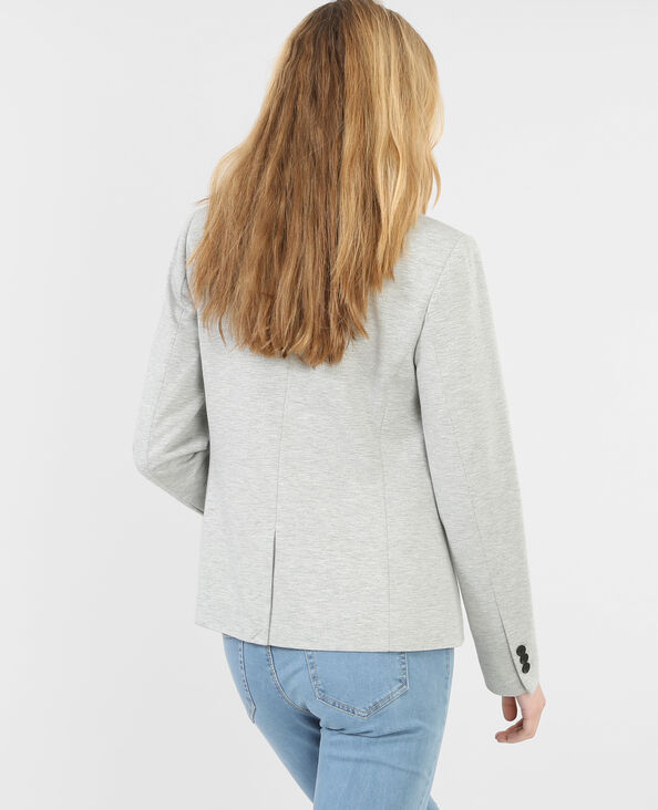 Giacca blazer maglia grigio chiné