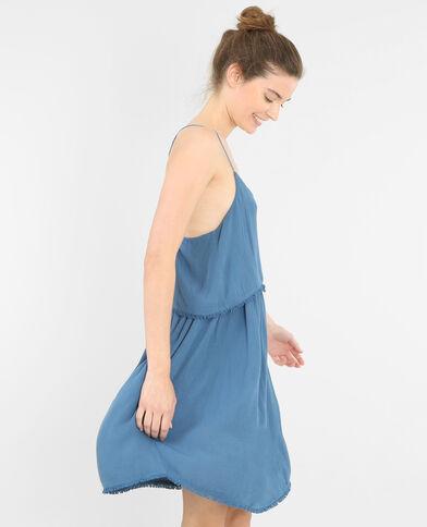 Rüschenkleid Denimblau