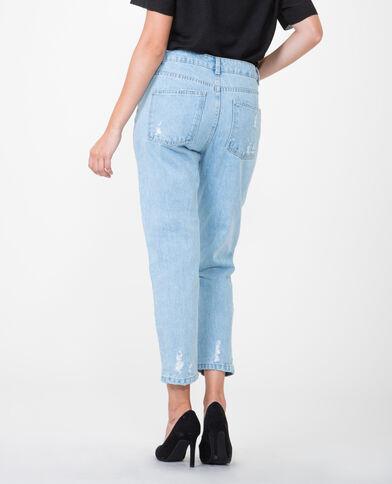 Mom-Jeans im Destroy-Look Hellblau