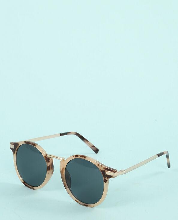 Gafas de sol efecto carey beige cáñamo