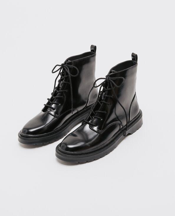 Boots rangers vernice nera nero