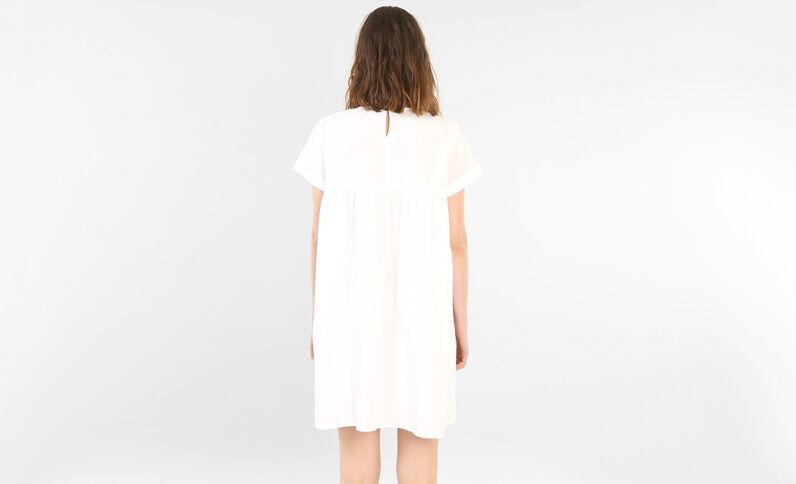 Babydoll-Kleid Naturweiß