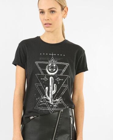 T-shirt à motif gris