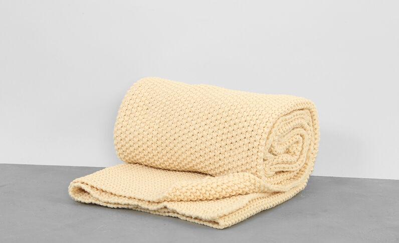 Plaid tricoté écru