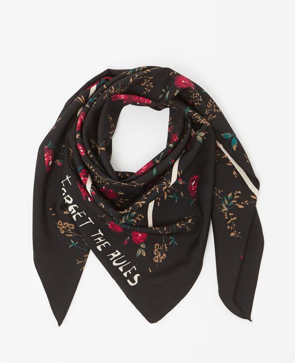 Foulard a fiori nero