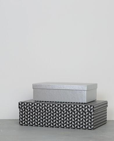 Lotto da 2 scatole in cartone nero