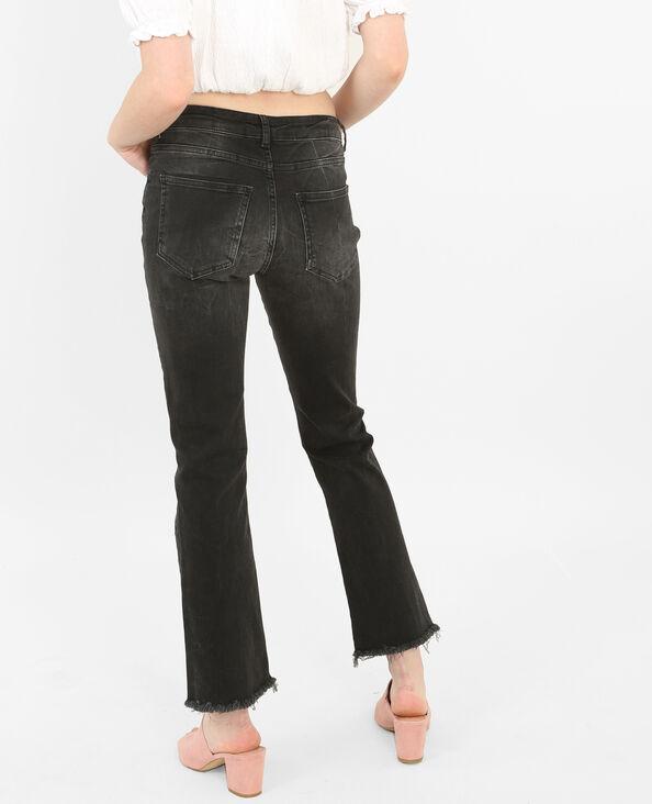 Flare Jeans mit Ösen Schwarz