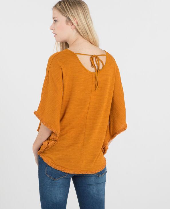 T-Shirt in Poncho-Form Senfgelb
