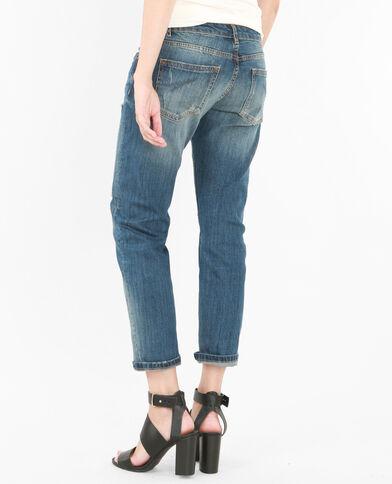 Jeans relax destroy blu denim