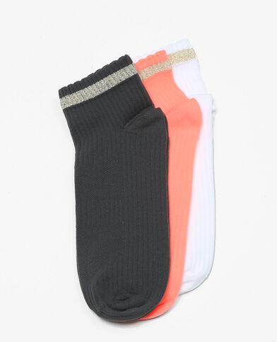 Soquettes sport lurex orange