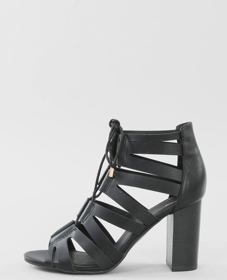sandaletten mit absatz schwarz 988078899a08 pimkie. Black Bedroom Furniture Sets. Home Design Ideas