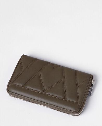 Lange portefeuille Gewatteerd groen