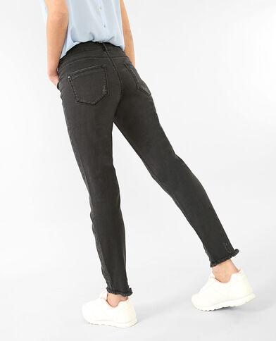 Jeans skinny deshilachados negro
