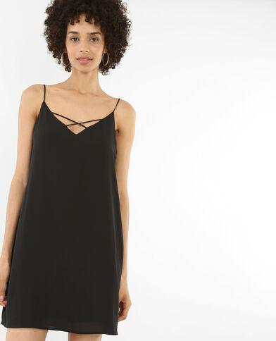 Gekruiste jurk zwart