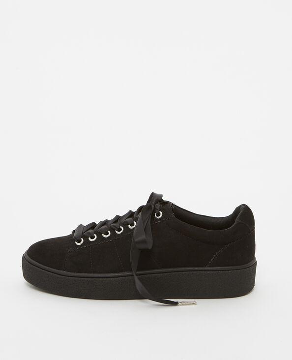Scarpe da basket lacci satinati nero