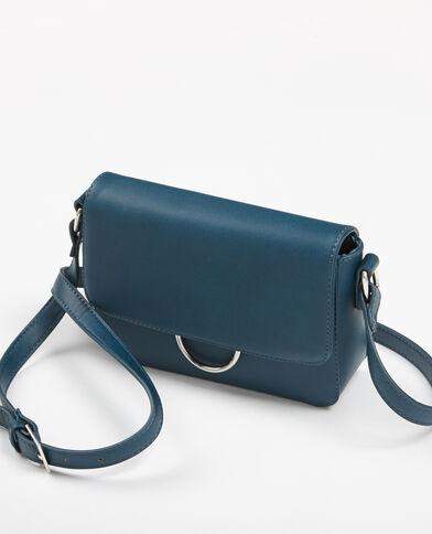 Petit sac boxy bleu canard