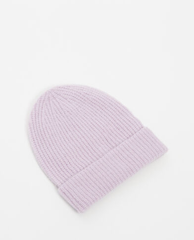 Mütze mit Umschlag Lavendel