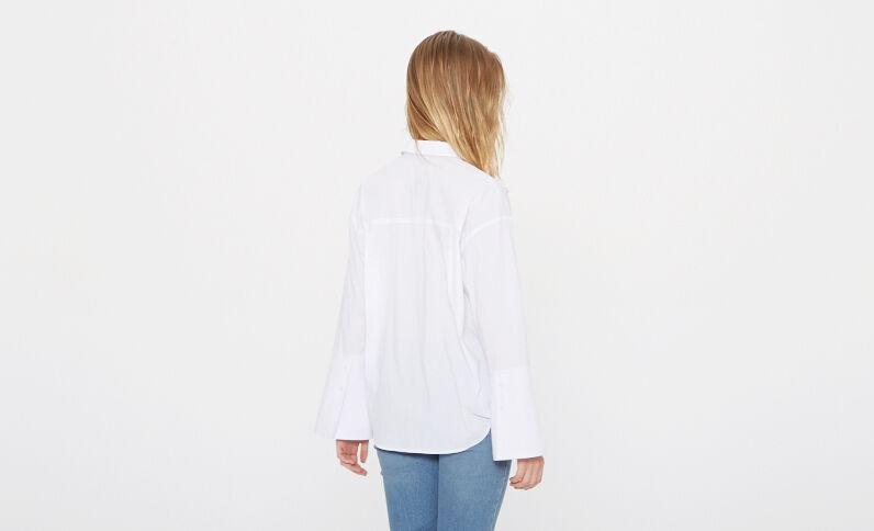 Hemd mit Schmucksteinen Weiß
