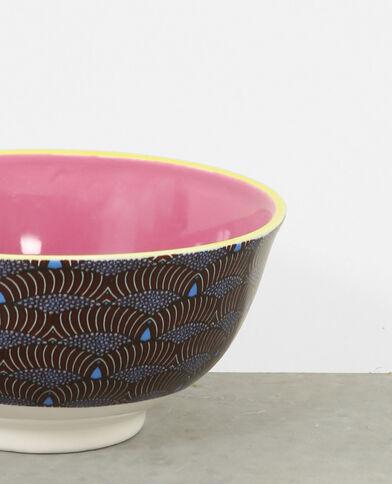 Cuenco de cerámica azul