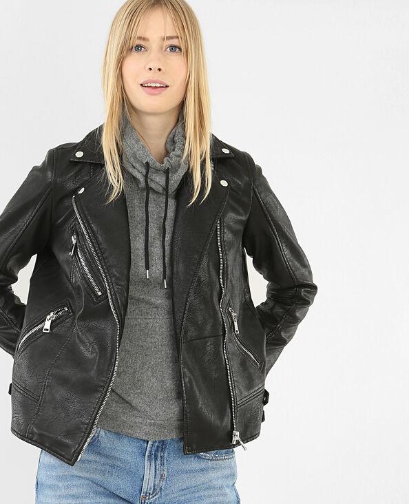 Giacca da motociclista nero