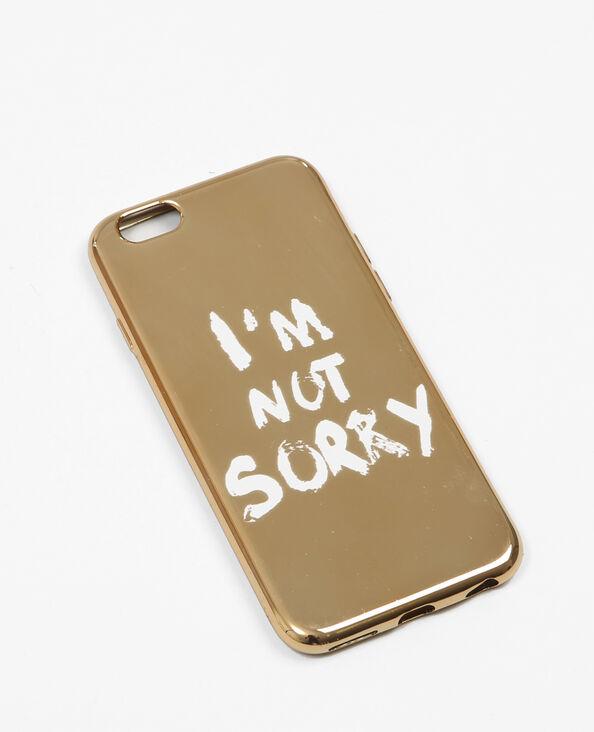 iPhone-hoesje met opschrift goudkleurig