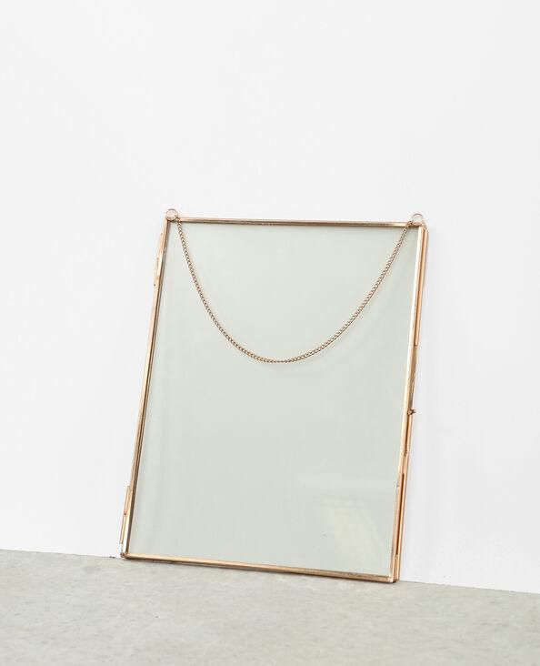Marco de cristal y metal dorado
