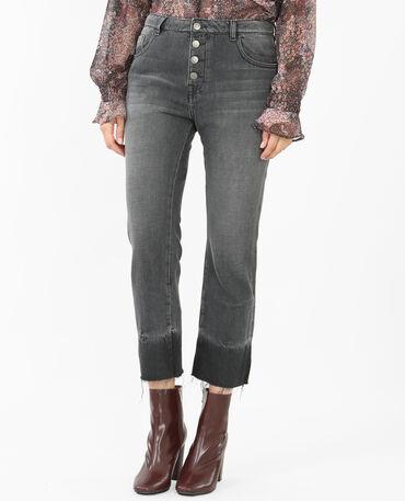 Bootcut-Jeans ausgewaschenes Grau