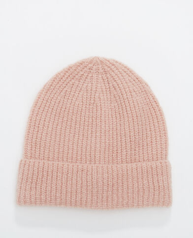 Gerippte Mütze Rosa