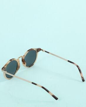 Sonnenbrille in Schildpatt-Optik Hellbeige
