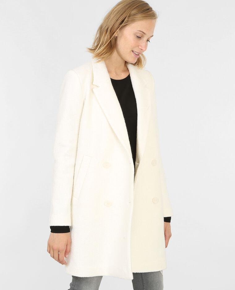 manteau droit drap de laine cru 281065901a09 pimkie. Black Bedroom Furniture Sets. Home Design Ideas