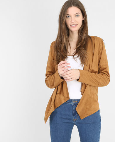 Jacke mit Zipfeln Orangebraun