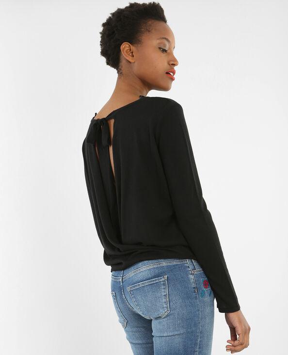 Pullover mit Öffnung am Rücken Schwarz