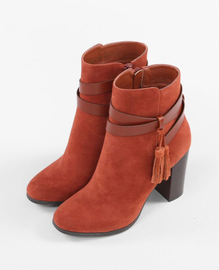 boots talon carr rouge 986111363a03 pimkie. Black Bedroom Furniture Sets. Home Design Ideas
