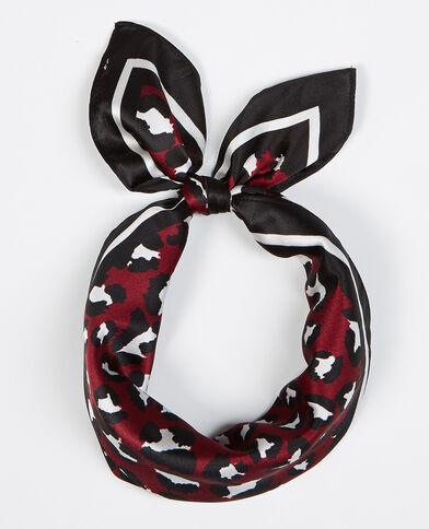 Bandana leopardo satinada rojo