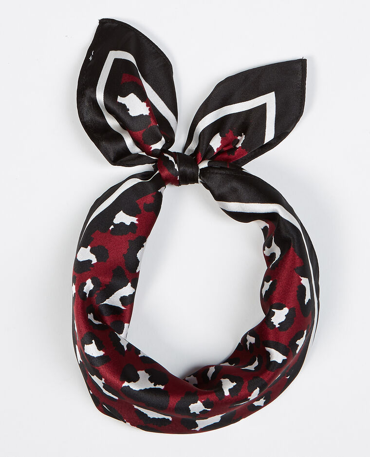 Bandana leopardata satinata Rosso