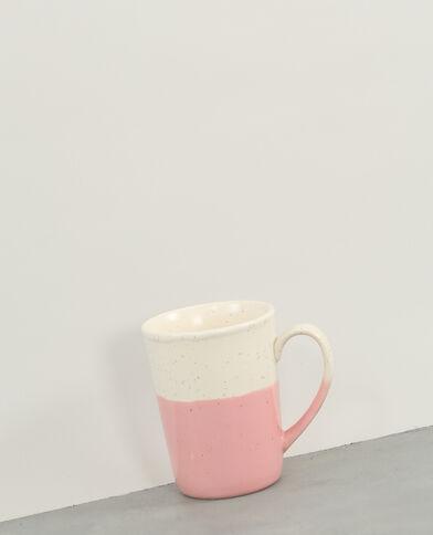Gesprenkelte Keramiktasse Rosa