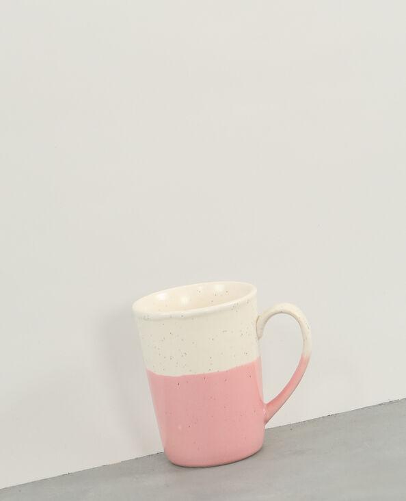 Mug céramique moucheté rose